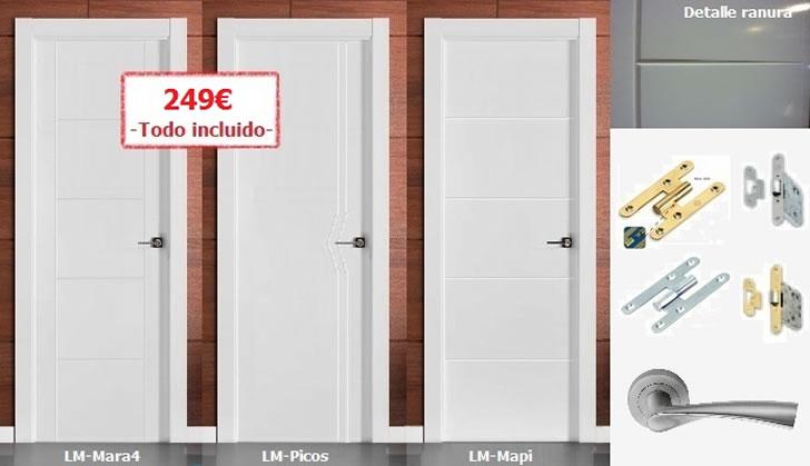 Ofertas puertas de madera armarios tarimas puertas baratas for Puertas de armarios de cocina baratas