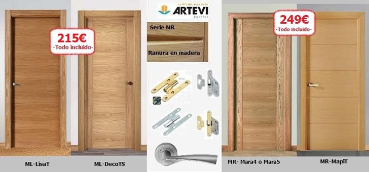 Ofertas puertas de madera armarios tarimas puertas baratas for Puertas de madera en oferta
